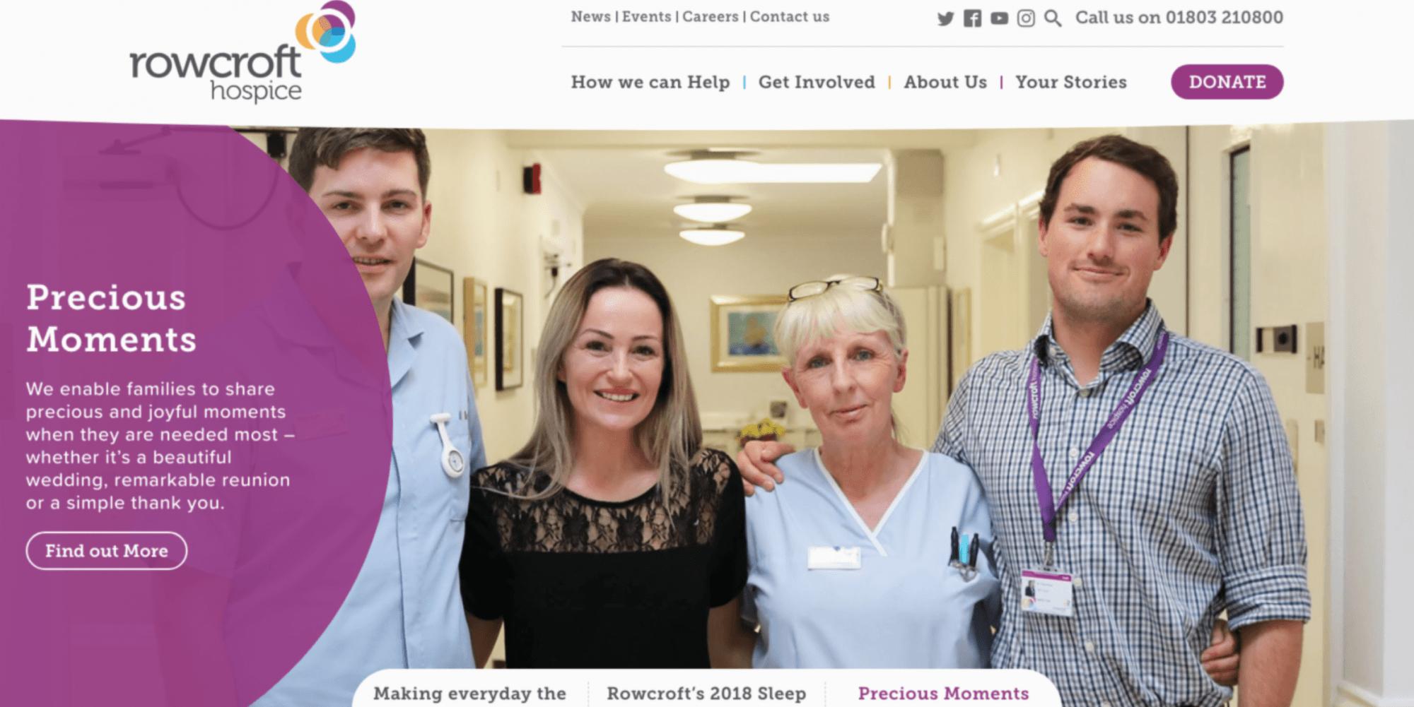 Rowcroft website redesign