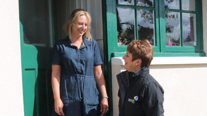Community team nurse and patient