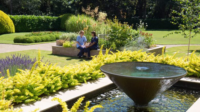 Rowcroft Hospice nurses in the grounds