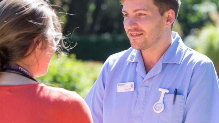 Hospice staff talk